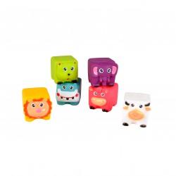 6 cubes animaux pour le bain